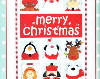 Merry Christmas Happy Holidays Applique Quilt Wall Hanging Pattern by Amy Bradley