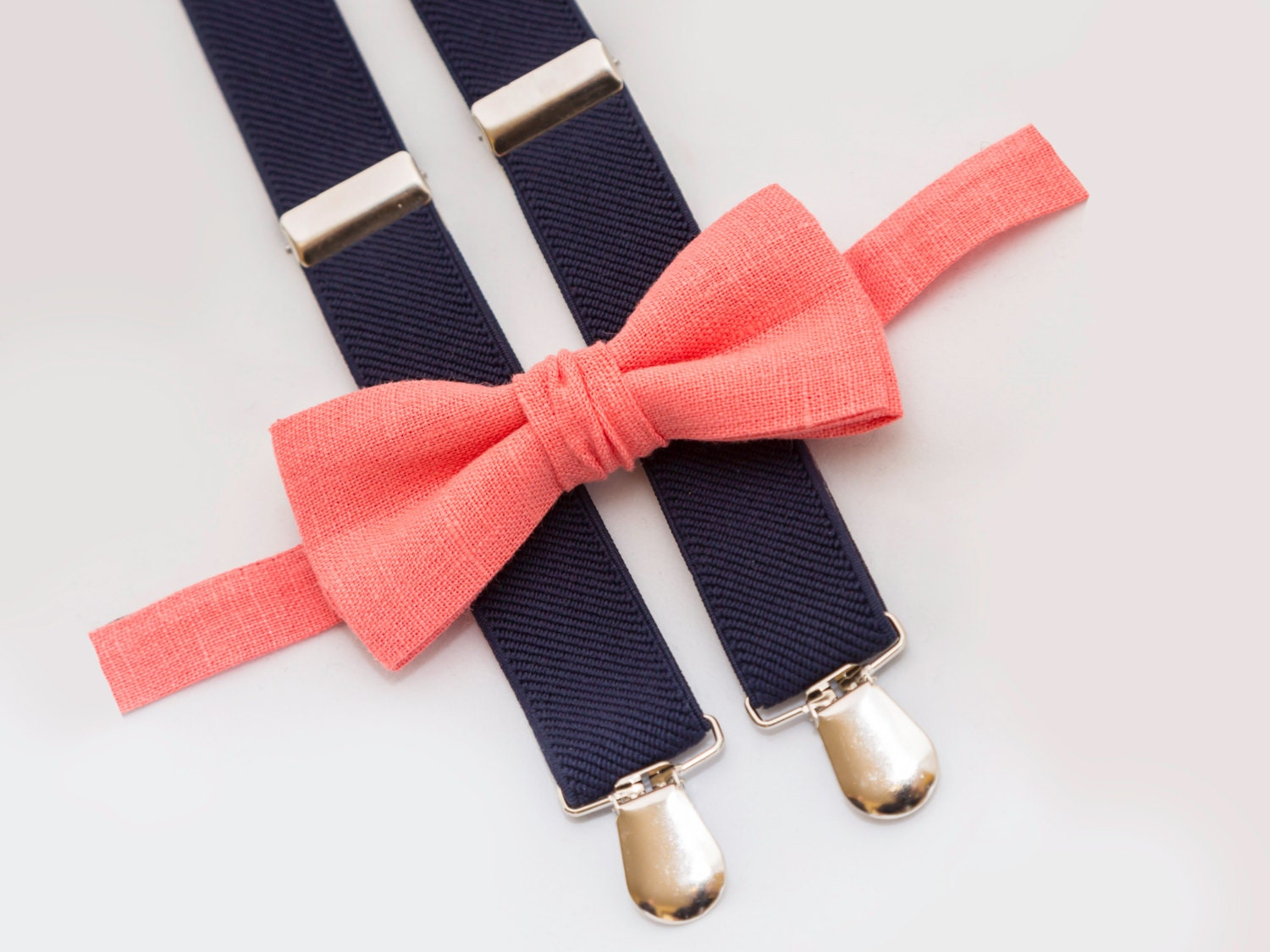 toddler birthday coral bow tie and by
