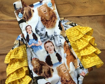 Adorable Dorothy/Wizard of Oz, yellow brick road ruffled bottom romper