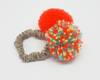 Hair Rubber Band (pom pom hair ties)