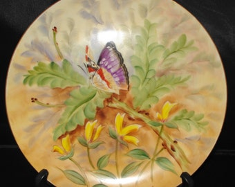 Butterfly Hand Painted Decorative Plate