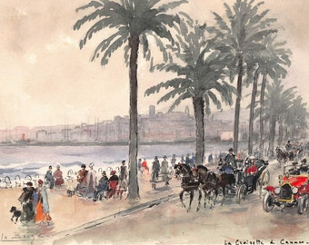 Cannes watercolor from the 1960s