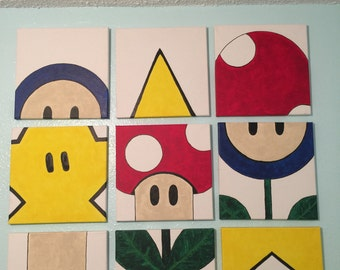 Mario match game mural