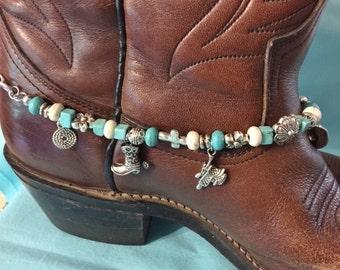 Westen Style Beaded Boot Bracelet