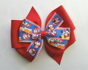 Mickey Minnie Mouse Pinwheel Bow, mickey mouse club house