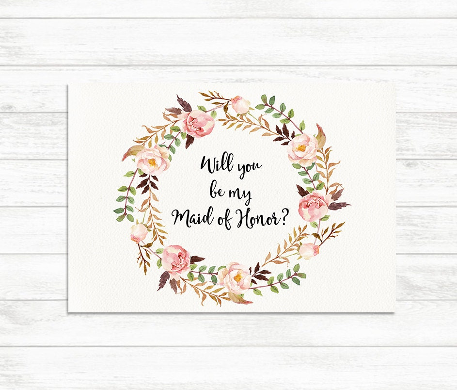 This is an image of Adaptable Bridesmaid Proposal Printable