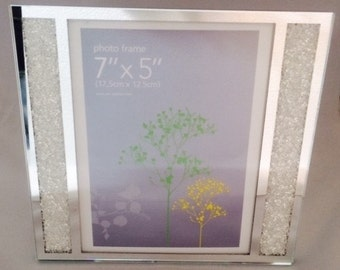"""Starlet Crystal Filled Photo Picture Frame 5""""x 7"""""""