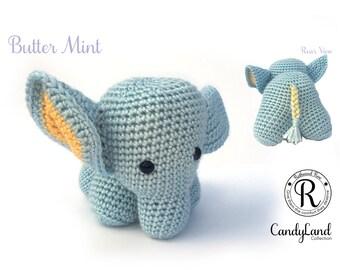 Butter Mint Emily - blue elephant