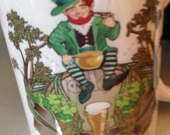 Irish coffee mug with Leprechaun