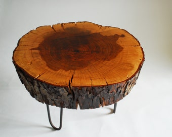 Pecan stump coffee table (El Sol)