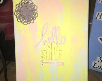 Hello Sunshine Canvas