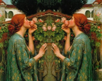 The Soul of the Rose by Waterhouse applique piece cotton, fabric block