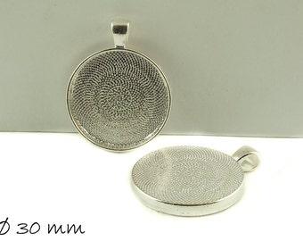 Cabochon versions / Medallion Ø 30 mm silver
