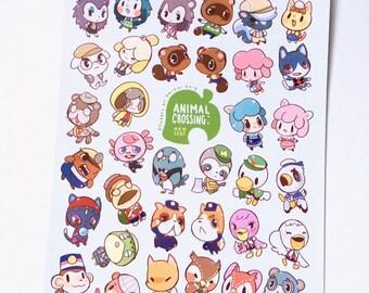 Animal Crossing New Leaf Stickers