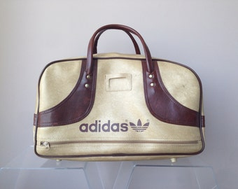 adidas vintage 80's boston adidas vintage Boston bag Brown x beige trip take