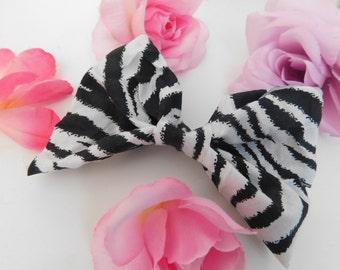 Zebra Striped Bow