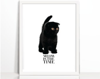 Wall deco, Minimalist modern, Cat, Cats, Kitten, Cat Printable, Motivational Quote, Quotes, Printable, Wall Art, Kitty, Black Cats,