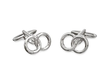 Cufflink with Two Locking Rings