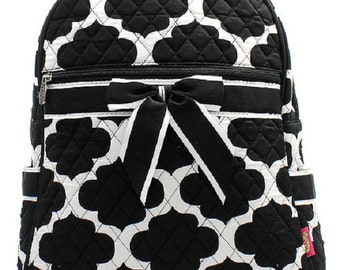 Quilted Backpack monogram
