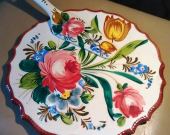 Outstanding Italian pie/cake plate with serving knife
