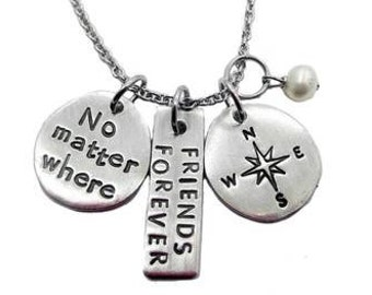 No Matter Where Compass Necklace