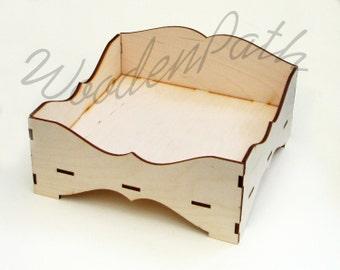 Decoupage! Unfinished plain napkin holder, open box