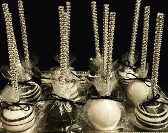 Cake pop Bling sticks, Sparkle treat sticks, party favor, decoration 12pc per pack