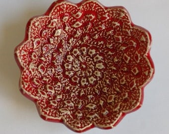 handcrafted ceramic plate