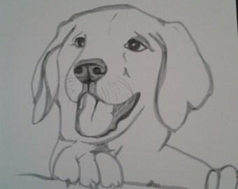 unique dog dog marker drawing Monochrome portrait artist
