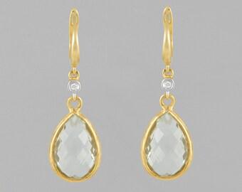 Gold 14 K gems MOBIS 10 CT and white diamonds 0.20 CT