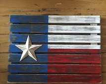 Unique Wooden Texas Flag Related Items Etsy