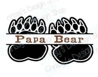 Papa Bear SVG / Papa gifts svg / father's day gifts / svg file / Papa eps / Papa cut file / Papa svg for silhouette / Papa gifts