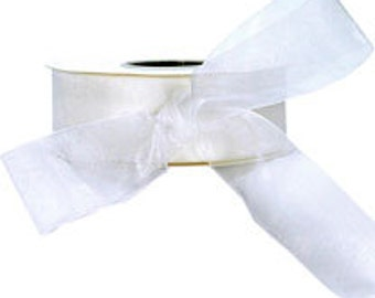 White Sheer Ribbon    (10-##-S-022)