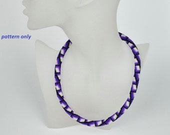 Bead Crochet Rope Pattern - purple dream - tutorial