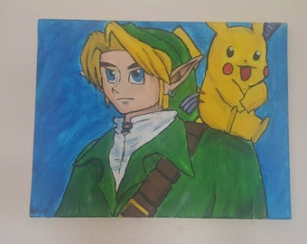 Zelda and Pikachu