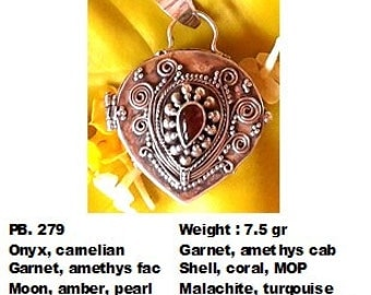 Sterling silver prayer box pendant