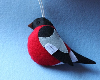 Bullfinch Felt Ornament
