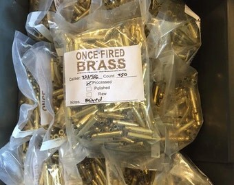 223/556 Fully processed Brass bags of (250)