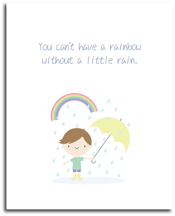Cute Rainy Day Quotes: Cute Rainy Day Poster Instant Digital By JollyBunnyDesigns