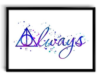 Always - Instant Digital Download, Always Wall Art, Harry Potter home decor, Always Download, Kids room decor, Harry Potter tribute