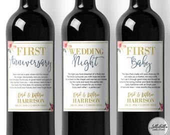 Wedding Milestones, Labels, Wine Labels, Wedding Gift, Thoughtful Wedding