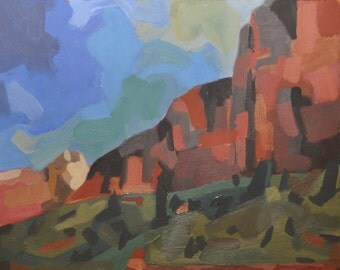 "Giclee print of ""View from the Emerald Pool Trail, Zion National Park, Utah"""