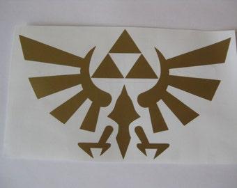 Legend of Zelda Decal, Zelda Car Decal, Triforce Decal, Nintendo Decal, Zelda Wingcrest Vinyl Decal, Legend of Zelda Car Decal, Triforce