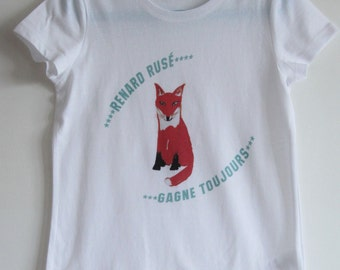 White Fox child graphic T-shirt