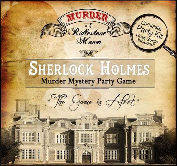 Murder Mystery Dinner Sheet Free: Sherlock Holmes Murder At Riddlestone Manor Murder