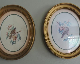 Oval Pictures Frame Pair Vintage