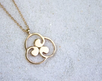Three Paths | Gold Pendant | Gold Chain