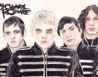 My Chemical Romance Drawing Print