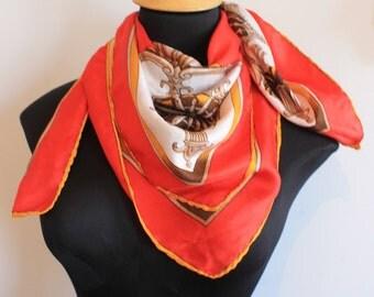Silk Vintage chain scarf