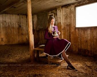 Purple lace dress Small